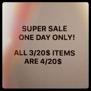 Saturday sale only!